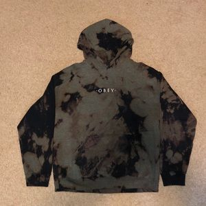 Obey Unique Hand Bleached Hoodie